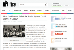 "My newest article on ""The Artifice"""